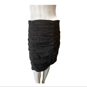 Nanette Lepore Black/White Ruched Skirt Size 8